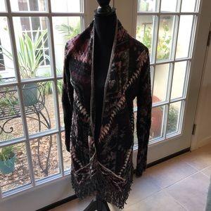Lucky Brand fringe sweater size medium.  Southwest